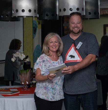 Lorraine (a Senior winner) and Andrew (Judge)