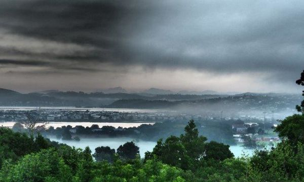 the mists of Knysna