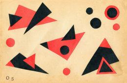 Triangular Suprematist Composition