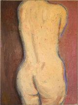 """nude back, 1999, oil/canvas-board, 16x12"""""""