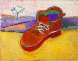 "©  Kourosh Bahar | squeaky boot, 8/2000, oil/paper, 11x14"""