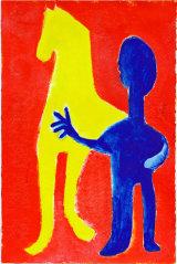 "©  Kourosh Bahar | variation VI  [Picasso BLH], acrylic/paper, 15x10"""
