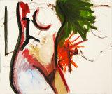 "©  Kourosh Bahar | torso, 1996, acrylic/paper, 14x17"""