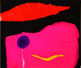 "©  Kourosh Bahar | balloon, 1996, mixed media / paper, 14x17"""