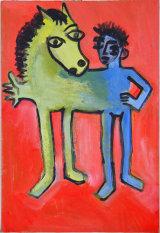 "©  Kourosh Bahar | variation V  [Picasso BLH], acrylic/cardboard, 15x10"""