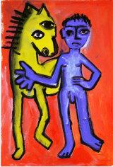 "©  Kourosh Bahar | variation IV  [Picasso BLH], acrylic/paper, 15x10"""