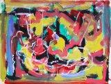 "©  Kourosh Bahar | Titian's emtombment II, 2003, oil/paper, 15x20"""