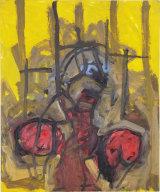 "©  Kourosh Bahar   crucifixion, 1/98, oil/paper, 17x14"""