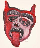 "©  Kourosh Bahar   dog, 11/97, acrylic/paper, 17x14"""