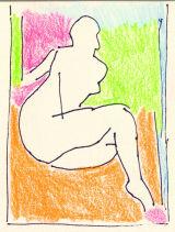 "©  Kourosh Bahar | Drawing #1. 10/07/12. ink,pencil/paper, 3x2.5"""