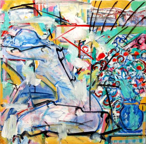 "©  Kourosh Bahar | daenerys, 2013-2014, oil/canvas, 20x20""  by  5/8"" thickness"