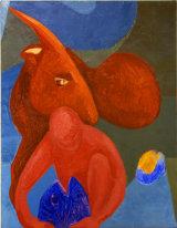 "©  Kourosh Bahar | talisman, 1994, oil/canvas, 30x24"""