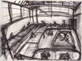 ©  Kourosh Bahar | drawing studio, 1995, charcoal/paper