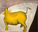 ©  Kourosh Bahar | bull, 1995, acrylic & charcoal / paper