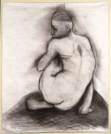 ©  Kourosh Bahar | nude w back turned, 1995, charcoal/paper