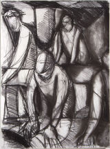 "©  Kourosh Bahar | students drawing, 1995, charcoal/paper, 24x18"""