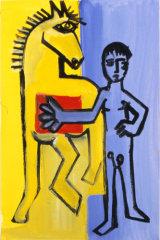 "©  Kourosh Bahar | variation III  [Picasso BLH], acrylic/paper, 15x10"""