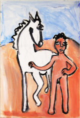 "©  Kourosh Bahar | variation I  [Picasso BLH], acrylic/paper, 15x10"""