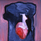 "©  Kourosh Bahar | black and red III, 1997, oil/canvas, 30x30"""