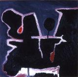 ©  Kourosh Bahar | black and red I, 1997, oil/canvas, 30x30