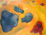 "©  Kourosh Bahar | colossus / strands, 1997, oil/canvas, 30x40"""
