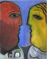 ©  Kourosh Bahar | man woman, 1998, oil / canvas board, 20x16