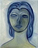 ©  Kourosh Bahar | woman in blue, 1998, oil / canvas board
