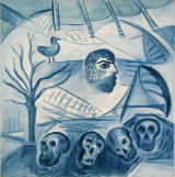 "©  Kourosh Bahar | talisman, 1999, oil/canvas, 30x30"""