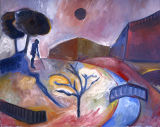 "©  Kourosh Bahar | wanderer, 1999, oil/canvas, 16x20"""