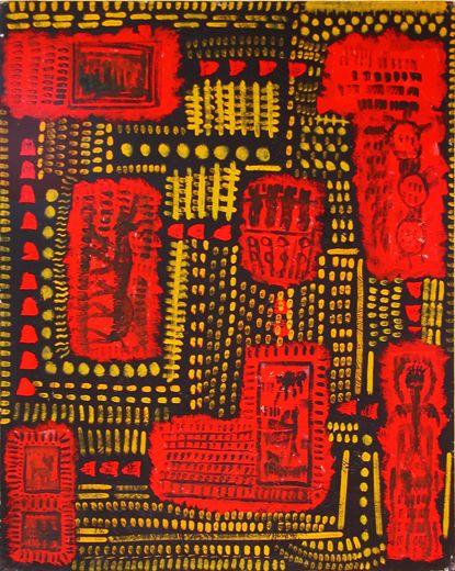 "©  Kourosh Bahar | hieroglyph, 2001, oil/canvas, 30x24"""