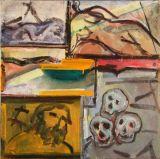 ©  Kourosh Bahar | 3 skulls, 2002, oil/canvas, 24x24