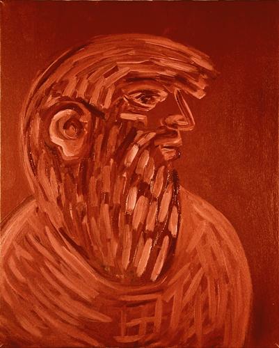 "© Kourosh Bahar   [Apostles] I, 10/2001, oil/canvas, 20x16"""