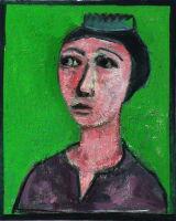 "©  Kourosh Bahar | [Epic] tahmina, 2002, oil/canvas, 20x16"""