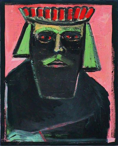 "© Kourosh Bahar   [Epic] the king, 2002, oil/canvas, 20x16"""