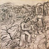 ©  Kourosh Bahar | time is a river, 2002, oil/canvas, 30x30