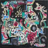 "©  Kourosh Bahar | Dwellers ii, 2003, oil+charcoal/canvas, 24x24"""