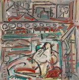 "©  Kourosh Bahar | #1, 2003, Oil+Charcoal/Canvas, 12x12"""