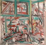 "©  Kourosh Bahar | #2, 2003, Oil+Charcoal/Canvas, 12x12"""
