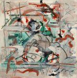 "©  Kourosh Bahar |  #3, 2002, oil+charcoal/Canvas, 12x12"""