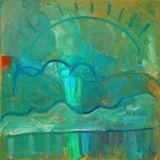 "©  Kourosh Bahar | turquoise, 2004, oil/canvas, 15x15"""