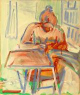 ©  Kourosh Bahar | K drawing, 2005, oil on wood