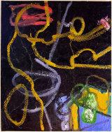 "© Kourosh Bahar  |  black mass, 2005, 36 x 30.5"". oil on canvas"