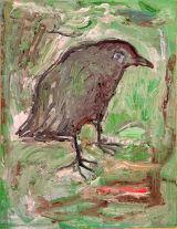 "©  Kourosh Bahar | grey, 2005, oil/canvas, 12x9"""