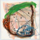 "©  Kourosh Bahar | head, 2005, acrylic &  pencil on paper, 8x8"""