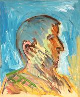 "©  Kourosh Bahar | pilate, 2005, oil on rabbit-skin-glue-sized canvas, 18x15"""