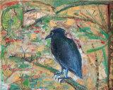 "©  Kourosh Bahar | raven, 2005, oil/canvas, 16x20"""