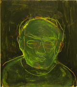 ©  Kourosh Bahar  |  green light, 2007, oil/wood, 9x8""