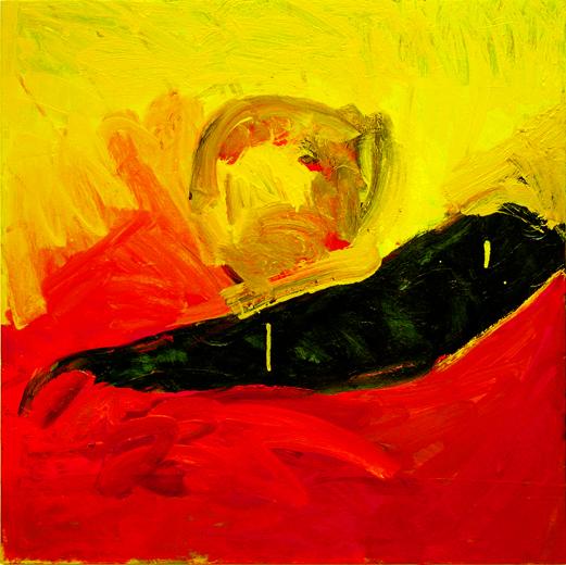 "© Kourosh Bahar | head, 2007, oil/wood, 24x24"""
