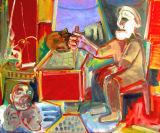 "©  Kourosh Bahar | headcollector, 2008, oil /canvas, 30x36"""