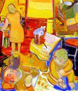"©  Kourosh Bahar | october, 2008, oil on rabbit-skin-glue-sized canvas, 42x36"""